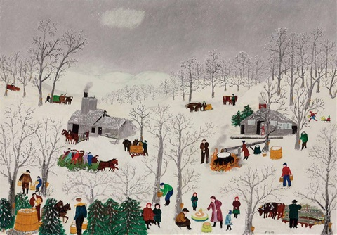 sugaring off by grandma moses