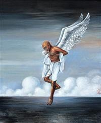 untitled (gandhi) by sudhanshu sutar