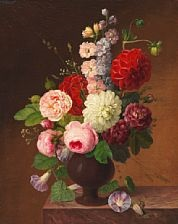 bouquet of roses by johannes ludwig camradt
