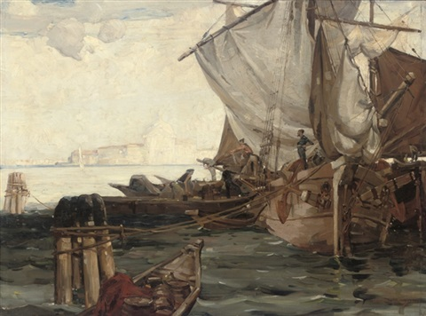 on the lagoon venice by vernon ward
