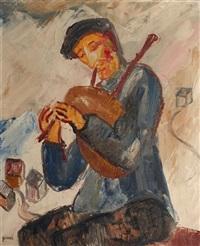 le joueur de cornemuse by georges gimel