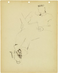 untitled (man reading) by norman lewis