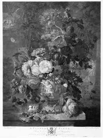 a flower piece after jan van huysum by richard earlom