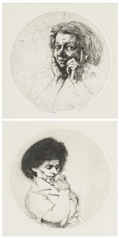 portraits (for a.b. jackson)(2 works) by sigmund m. abeles