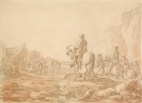 le bivouac by jean-baptiste (louis) le paon