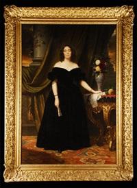 retrato de la marquesa de casa riera by sébastien-melchior cornu