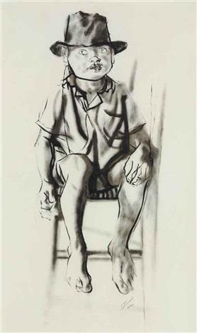 menino de brodowski portrait of arnóbio martini of brodowski by candido portinari