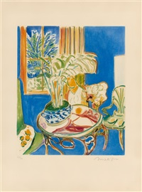 petit intérieur bleu by henri matisse