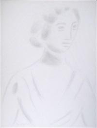 weibliches porträt by bruno goller