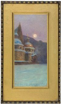 cracow cathedral in the moon aura by stanislaw poraj fabijanski