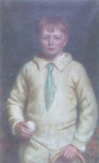 portrait of albert hugh dudley tyas aged about 7 by hugh de twenebrokes glazebrook