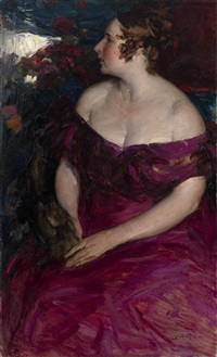 female portrait by abram efimovich arkhipov