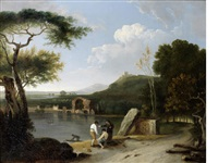 lake avernus with the temple of apollo in the distance (collab w/studio) by richard wilson
