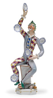 jonglierender clown by peter strang