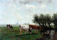 weiland met koeien by fedor van kregten
