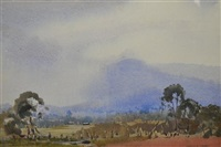 rural landscape by harold brocklebank herbert