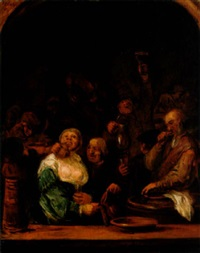 peasants carousing in a tavern by daniel adriaensen