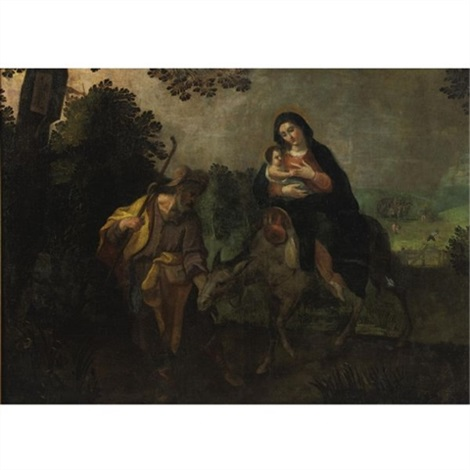 flight into egypt by hispano flemish school 17