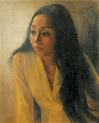portrait of a woman by dullah