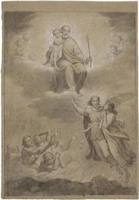 san giuseppe, angeli e anime purganti, seconda metà xix secolo by pietro gagliardi