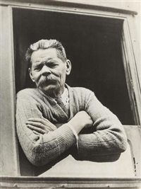 maxim gorky at the moscow train station by max vladimirovitch alpert