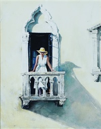 study for close to noon (palm beach) by stephen scott young