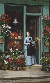 la bouquetière by jules emile saintin