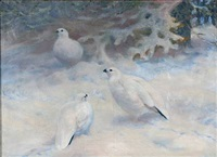 snowy landscape with birds by anonymous-swedish (20)