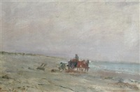 cart and riders by the shore by frederick porter vinton