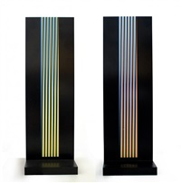 colonne chromatique by carlos cruz-diez