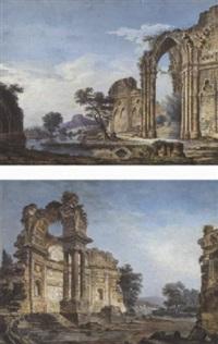 paysage de ruines by antoine gonzalès