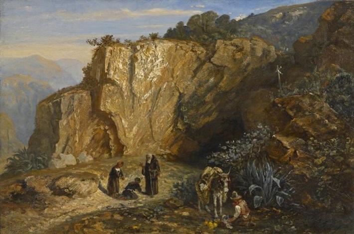 la grotte de santa croce comté de nice by paul huet