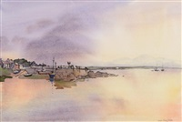 sunset, roundstone by susan mary webb