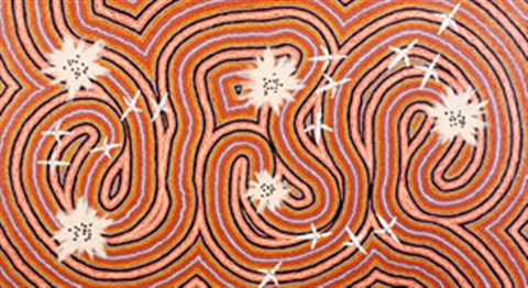 worm dreaming by clifford possum tjapaltjarri