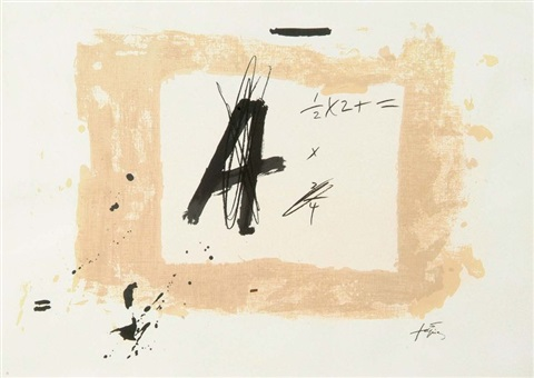 Composition à La Lettre A By Antoni Tàpies On Artnet