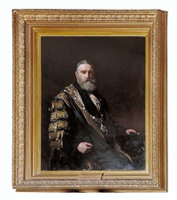 sir robert n fowler (twice lord major of london) by francis montague (frank) holl