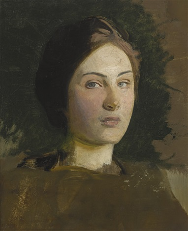 Portrait of the Artists Daughter by Abbott Handerson ...