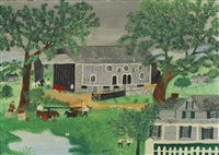 pennsylvania barn by grandma moses