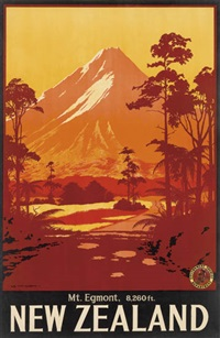 new zealand/mt. egmont by leonard cornwall mitchell