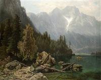 blick auf den bergsee by theodor (wilhelm t.) nocken