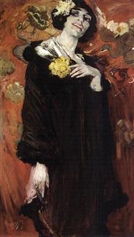 portrait of a woman by gérardus hendrik grauss