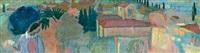 esquisse pour l'annonciation aux chaussons rouges ou paysage de fiesole by maurice denis