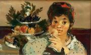 jeune fille à la coupe de fruits by lucien joseph fontanarosa
