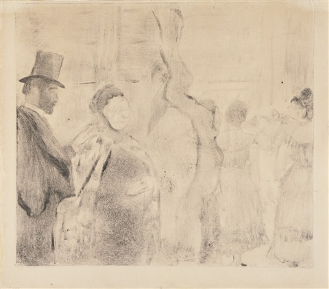 ludovic halévy meeting mme cardinal backstage by edgar degas