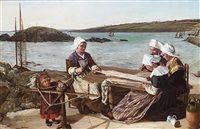 breton fishermen's wives by james clarke hook