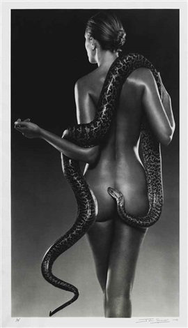 nude with snakes by john swannell
