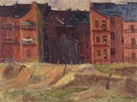 rote vorstadthäuser by richard gessner