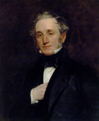 portrait of thomas cubitt in a black coat and waistcoat by henry william pickersgill