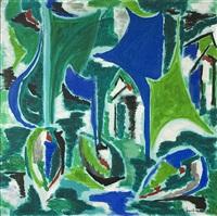 komposition i grönt och blått by marcel burtin