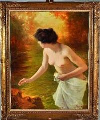 femme sortant du bain by paul plument de bailhac